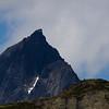 View of the mountain Falketind. / Utsikt mot Falketind.