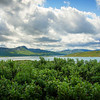 A view at lake Tyin. / Utsikt over innsjøen Tyin.