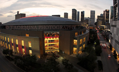 Feb 5, 2013; Houston, TX, USA; General view of the exterior at Toyota Center before a game between the Golden State Warriors and the Houston Rockets. Mandatory Credit: Troy Taormina-USA TODAY Sports