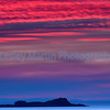 Sunset at North Berwick, Scotland.