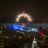 Fireworks from the castle at the Edinburgh Royal Military Tattoo 2016