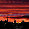 Silhouette of Edinburgh skyline.