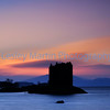 Sunset at Stalker Castle, Scotland.