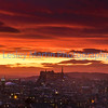 Gorgeous sunset over Edinburgh