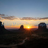 Sunrise at Monument Valley, Arizona.