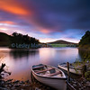 Sunset at Glencorse  Reservoir , Edinburgh.