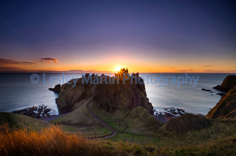 Sunrise at Dunnottar Castle, Scotland.