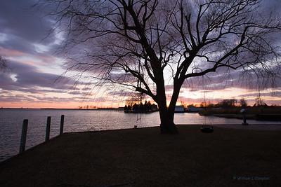Sunset @ the St Clair Cutoff