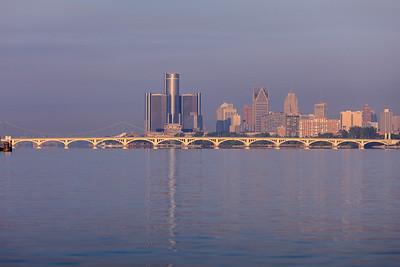 Detroit Skyline Early morning