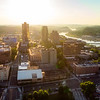 Downtown Knoxville Tennessee skyline in the morning sunlight