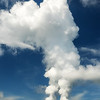 Cooling towers dump steam into the atmosphere at Watts Bar nuclear reactor Tennessee