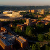 University of Tennessee football stadium and campus in the early morning light