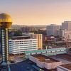 Knoxville City Skyline with the famous Sun Sphere displayed prominently