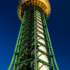 Close up upward view of the famous sunsphere in Knoxville Tennessee