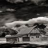 Moulton Barn in Mormon row Teton Valley Black and White