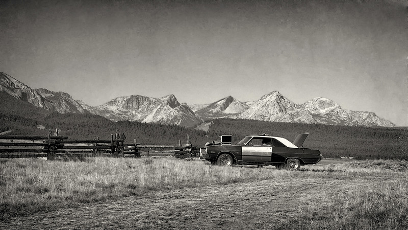 Dodge Dart and the Sawtooths 1986