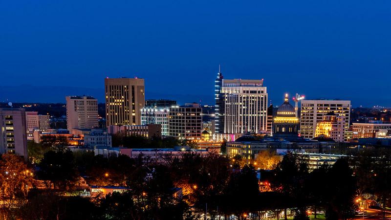 Boise, Idaho at night