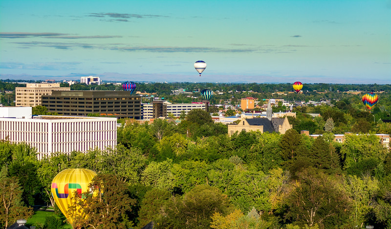 Western boise with St. Als and hot air balloons