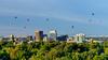 Boise Balloon Festival and Skyline