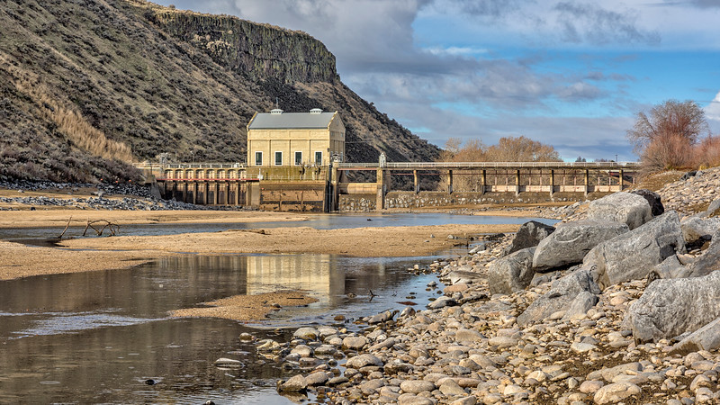 Boise River Diversion Dam at Low Water
