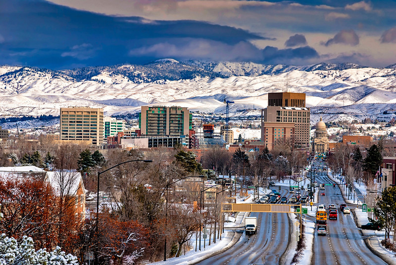 Boise, Idaho in winter