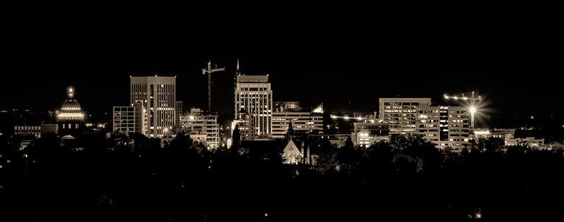 Night Sky  and Boise, Idaho Skyline