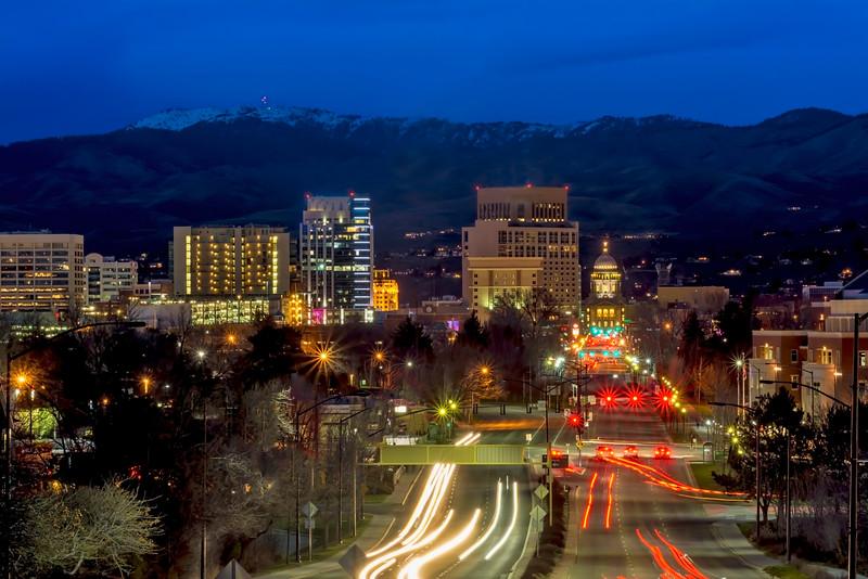 Capital Boulevard at Night