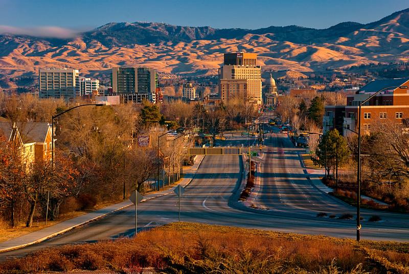Capital Blvd. Boise, Idaho--Sunrise