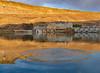 Snake River Dam Swan Falls at sunset