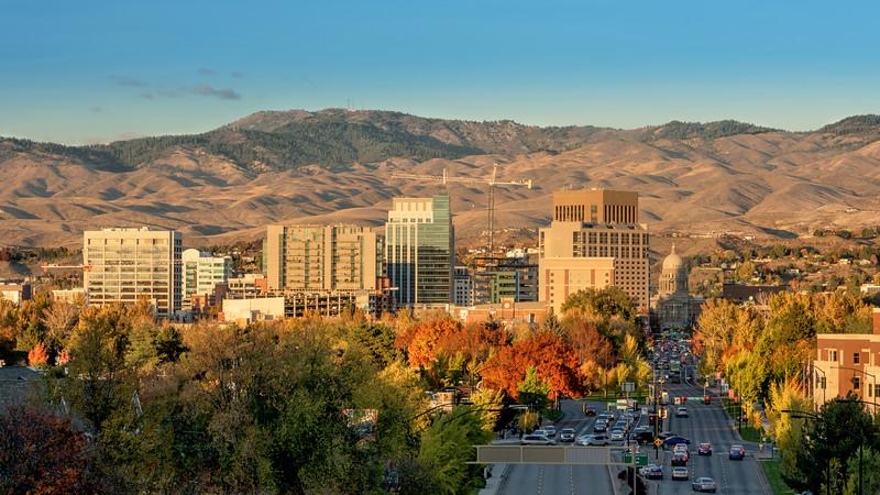 Boise Idaho City Skyline in Fall