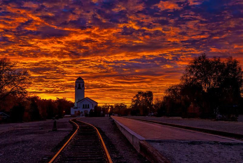 Boise Depot with Sunrise