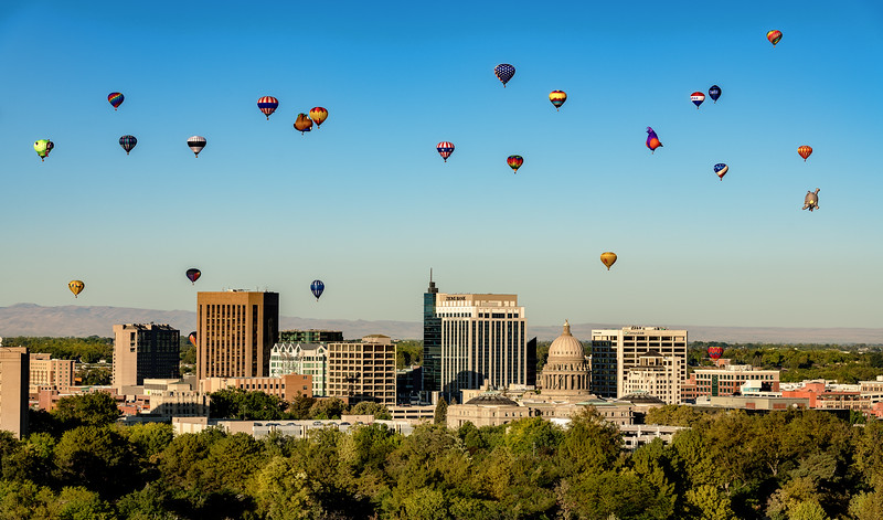 Just another perfect day for a balloon launch over Boise Idaho