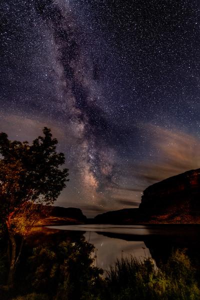 Snake River Canyon Milky Way near Swan Falls Dam