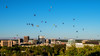 Hot Balloon festival on full display over the skyline of Boise Idaho