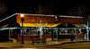 Original restaurant in Meridian Idaho at night with Christmas lights