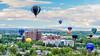 Many Hot Air Ballons over St. Lukes