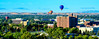 St. Lukes Hospital in Boise Idaho with Hot air balloons