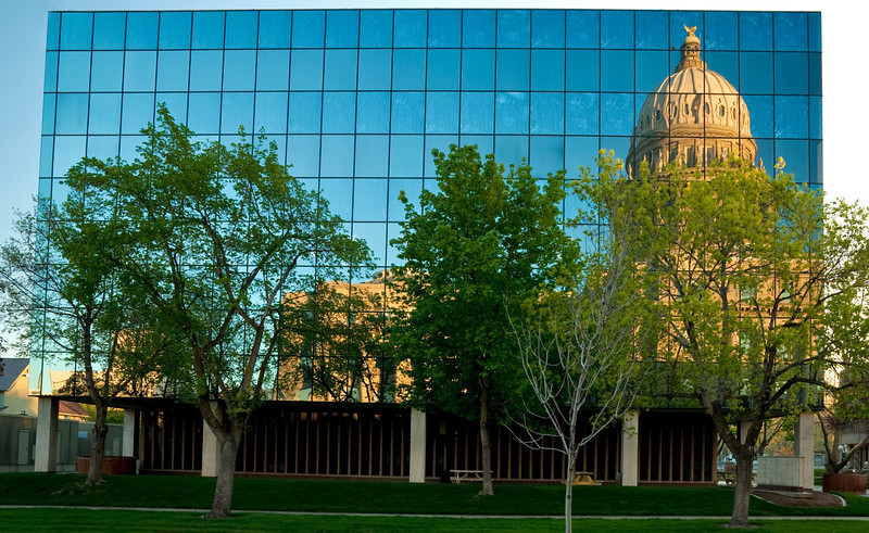 Reflection of the Boise Capital Building