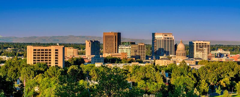 Morning Skyline of Boise, Idaho