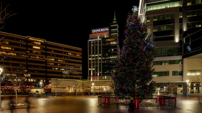 Christmas tree on the Grove in downtown Boise Idaho