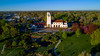 Boise City park and view of train depot from above