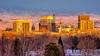 Boise Skyline at Sunset in Winter