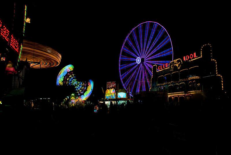 Western Idaho County Fair at Night