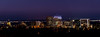 Panoramic view fo the Boise Idaho skyline at night