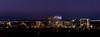 Panoramic view fo the Boise Idaho skyline at night