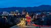 Boise Idaho night secene of Capital boulevard