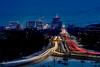 Boise Capital boulevard night light streaks