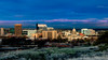 Early morning light paints the skyline of Boise Idaho