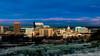 Early morning light paints the skyline of Boise Idaho