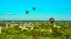 Boise Idaho city of trees and many hot air balloons